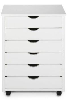 For your office.  shallow drawers for paperwork.  Could go in your closet, or could put 3 of them next to each other in between the bookshelves.    Stanton 6-Drawer Wide Cart - Storage Carts & Chests - Storage & Organization - Home Decor | HomeDecorators.com