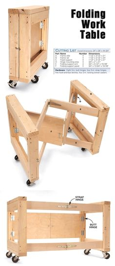 Space-saving folding work table www.popularwoodwo… folding work table www.popularwoodwo… wood working plans – wood working diy – wood working plans Space-saving folding work table www. Beginner Woodworking Projects, Popular Woodworking, Woodworking Furniture, Fine Woodworking, Woodworking Ideas, Woodworking Classes, Woodworking Machinery, Woodworking Workshop, Woodworking Techniques