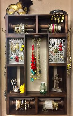 A personal favorite from my Etsy shop https://www.etsy.com/listing/477853796/jewelry-organizer-wall-jewelry-organizer