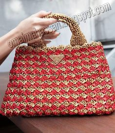 crochet kingdom Crochet this nice bag with Raffia. Pattern diagram at site