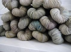"""ghost"" by Viola (yarns) - I love Viola's colour sense. So sad that she's closing up shop..."