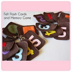 Felt flash cards and memory game tutorial and free pattern #educational