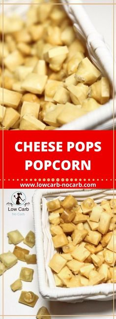 Cheese Pops - Low Carb Popcorn Great and healthy substitution to a real Popcorns #cheesepops #lowcarb #keto #healthyfood #cheese #fitfood
