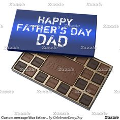 Custom message blue father's day chocolate candy