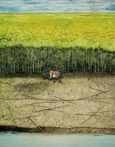 The Ukrainian Pioneer William Kurelek Canadian Painters, Canadian Artists, William Kurelek, Wind In My Hair, Ukrainian Art, Art Brut, Bee Art, Outsider Art, Landscape Art