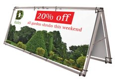 Event Banner Frames - make your event stand out in the crowd! Outdoor Range, Indoor Outdoor, Pvc Banner, Real Estate Advertising, Vinyl Banners, Fabric Banners, Large Format Printing, Event Banner, Banner Stands