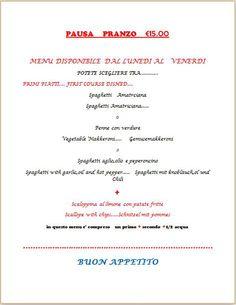 Pausa Pranzo €15.00