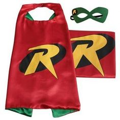 (Robin) ROXX Cape and Mask Costume for Child Superhero Superman Kids Girl and Boy - Kids Spiderman Costume, Girl Superhero Costumes, Superman And Spiderman, Superman Kids, Childrens Halloween Costumes, Halloween Party Costumes, Super Hero Costumes, Easy Halloween, Diy Costumes