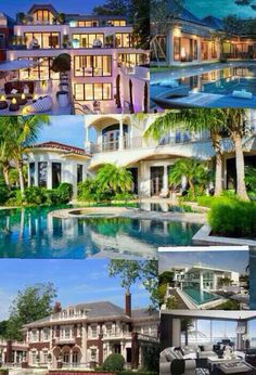 Why You Should Never Try to Keep Up With the Joneses Americans live for the dream. Mansions and exotic vacations to fabulous resorts are one of many on most bucket lists. They sure are on mine! Dream Mansion, Zen, Exterior Design, Luxury Homes, Garden Design, Exotic, Mansions, Inspiration, House Styles