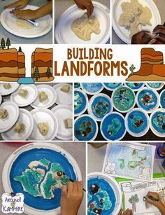 Learning, building, and writing about landforms. This post has some great, hands-on  ideas and activities to get students reading and writing while learning about oceans, continents, and landforms.