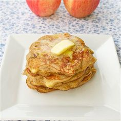 Coconut Flour Apple Pancakes  @This Chick Cooks  I'm am going to try these out for supper tonight.