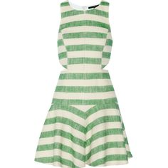 Striped cotton-blend dress (1.425 BRL) ❤ liked on Polyvore featuring dresses, vestidos, tibi, striped dress, cotton blend dresses, stripe dress and tibi dresses