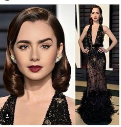 LILY COLLINS OSCAR PARTY 2017