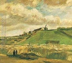 The Hill Of Montmartre With Quarry Vincent Van Gogh