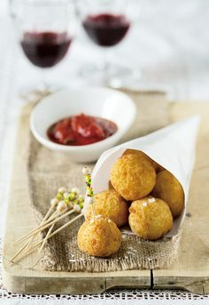 Mashed Potato Beignets with Grated Cheese