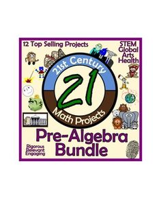 12 of my best selling projects/units all in an organized money saving bundle! These engaging, student/teacher approved math projects that provide rigor, relevance, and cross-curricular content altogether. Check out the preview to see the alignment to 6-8 grade Common Core Standards!
