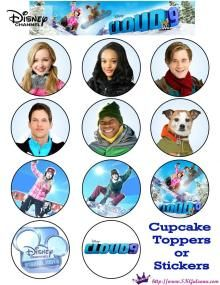 Cupcake Toppers or Stickers Disney Channel Original Movie Cloud 9 Free Printables | SKGaleana