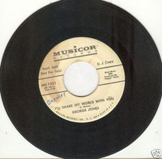 "George Jones 45 rpm ""I'll Share My World With You"""