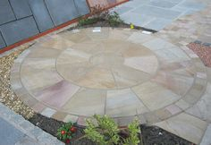 Indian Sandstone 2m circle in Sunset