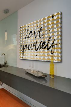 Love Yourself Canvas Wall Art by Marmont Hill Inc. on @HauteLook $129 30X45