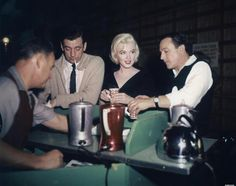 Yves Montand, Marilyn Monroe and Gene Kelly