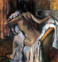 I love Edgar Degas. Mum took me to a gallery of his paintings, sketches and sculpture & since then I've been hooked. I love how he makes curvy women beautiful - I esp love his bath scenes.