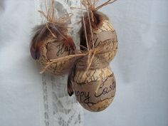 Hanging Rustic Easter Eggs