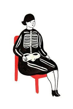 Skeleton Dress by Rachel Levit, via Flickr