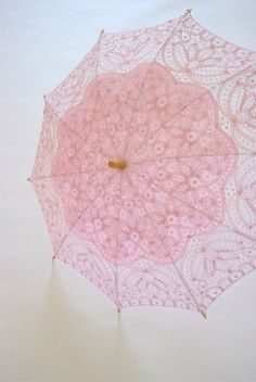 "Pink lace parasol- who would have guessed, I'm usually not this ""girly"", but I love it :) Lace Umbrella, Lace Parasol, Under My Umbrella, Umbrella Lights, Vintage Umbrella, Pink Love, Pretty In Pink, Hot Pink, Pale Dogwood"