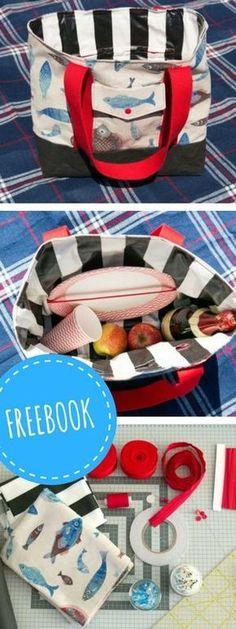 Kostenlose DIY-Anleitung: Picknicktasche selber Nähen - mit Schnittmuster-Download