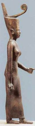 The Goddess Neith - Neith was the predynastic goddess of war and weaving, the goddess of the Red Crown of Lower Egypt and the patron goddess of Zau (Sau, Sai, Sais) in the Delta. In later times she was also thought to have been an androgynous demiurge - a creation deity - who had both male and female attributes.