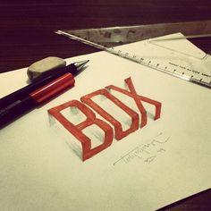 3D Lettering with Parallelpen-Brushpen&Pencil - Part 4 on Behance