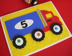 Semi Truck Big Rig Birthday Invitation via Etsy