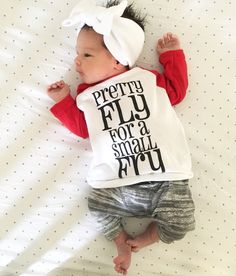 Pretty Fly For A Small Fry raglan by Root Avenue • gender neutral baby, toddler & kids fashion tees