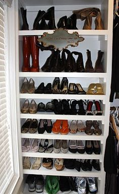 I pinned this less because of the storage idea and more because i would love to buy a home with a shoe collection all in my style, all in my size. #Thinkaboutit