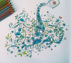Watering Can Secret Garden. Regador Jardim Secreto. Johanna Basford --> If you're looking for the most popular coloring books and writing utensils including colored pencils, drawing markers, gel pens and watercolors, please visit http://ColoringToolkit.com. Color... Relax... Chill.