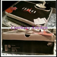 Jordan shoe box his name instead of jordan& then the symbol