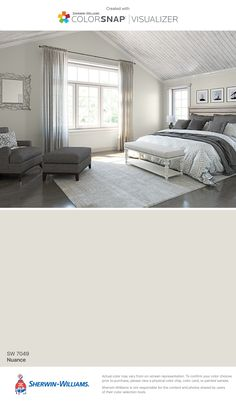 I found this color with ColorSnap® Visualizer for iPhone by Sherwin-Williams: Nuance (SW 7049).