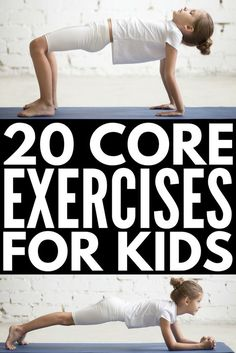 20 Super Fun Core Exercises for Kids Exercises for Kids Kids Yoga Kids Health Gross Motor Activities, Gross Motor Skills, Classroom Activities, Physical Activities For Kids, Movement Activities, Health Activities, Yoga For Kids, Exercise For Kids, Kid Exercise Games