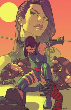 Psylocke - coolest x-man ever (with gambit)