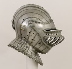 Possibly attributed to Kolman Helmschmid (German,  1471–1532). Close Helmet for a Boy, ca. 1530–40. German, Augsburg. The Metropolitan Museum of Art, New York. Gift of William H. Riggs, 1913 (14.25.621)