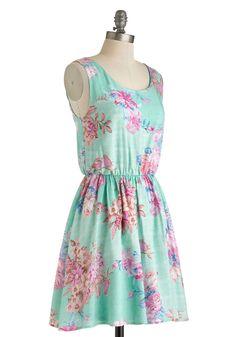 Beachfront Bungalow Dress | Mod Retro Vintage Dresses | ModCloth.com - comes in plus size and has a cute back
