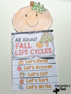 fall life cycles science flip book- covers information on apples and pumpkins- fun hands on activities for students during the fall season