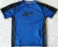 New Reebok Blue Black Play Dry Short Sleeve Shirt Everyday Toddler Boy Size 7 #Reebok #Everyday