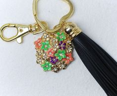 Tassel for bags, skin, gold-plated findings