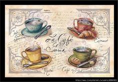 Картинки на кофейную и чайную тему.
