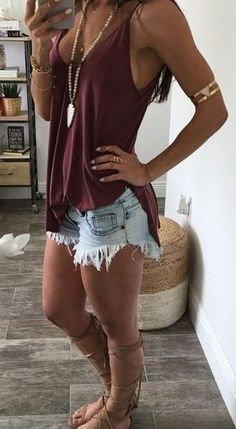 27 Cool Jeans Short Outfits For This Summer cute outfits for girls 2017