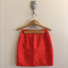 Kate Spade Orange Skirt Orange skirt, size 6 by Kate Spade. Gold zipper, fully lined. No flaws, textured fabric as pictured in the last photo. Open to offers; bundles discounted! kate spade Skirts Mini