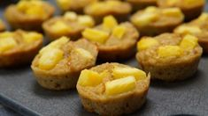 Pineapple Right-Side-Up Cakes Low Sugar Desserts, Vegan Dessert Recipes, Vegan Sweets, Cookie Desserts, Whole Food Recipes, Healthy Treats, Healthy Desserts, Healthy Recipes, Vegan Muffins