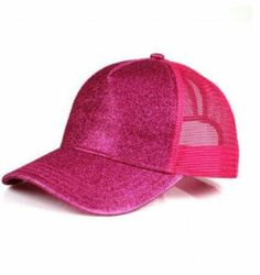 f73616bebeb Wholesale cC Pony Cap BT C C glitter ponytail baseball cap mesh back  Adjustable